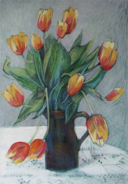 - Spring tulips -